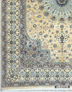 esfahan-extra-fine-fondo-seta-tram-ordito-in-seta-esempelare-raro - irana tappeti 2