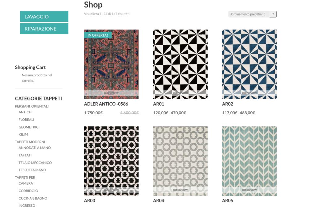 Manifattura dei tappeti moderni in India